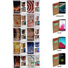 For LG Nexus 5X Stylus DAB+ G6 G5 G4 G3 Music Note Print Flip Wallet Phone Case