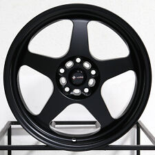 """4-New 18"""" Vors SP1 Wheels 18x9 5x108 35 Matte Black Rims 73.1"""