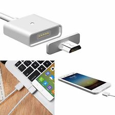 Silver Micro USB Magnetic Adapter Charger Cable Lightning For Android Samsung LG