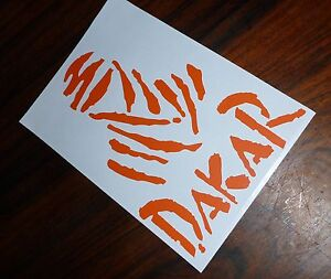 DAKAR Rally Sticker Decal 130mmH Motor Bike Enduro Offroad Car 4X4 KTM Pajero