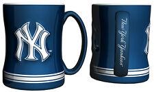 New York Yankees Coffee Mug - 14oz Sculpted [NEW] Tea Warm Microwave Cup CDG