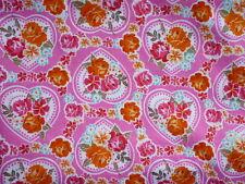 STENZO:  Rosen-Herzen, pink, 150 cm breit,  Meterware, ab 0,5 m (EUR 9,90 / m)