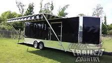 NEW 8.5X24 8.5 X 24 V Nose Enclosed Cargo Trailer Car Toy Hauler Pro Race 3 Pack