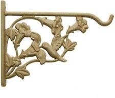 "Panacea 8"", Sand, Cast Aluminum, Hummingbird Hanging Plant Bracket, 2 Pack"