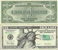 10 TRILLION DOLLAR BILLS NOTES MONEY NOVELTY REPLICA MENS BOYS WOMENS GIFT