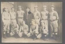 REAL PHOTO Postcard LEETONIA Ohio/OH High School? Baseball Team