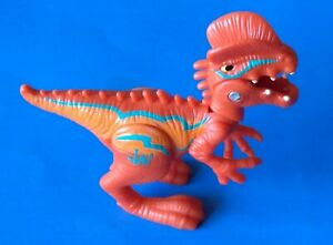 "2014 JURASSIC WORLD CHOMP N STOMP DILOPHOSAURUS ORANGE 3.5"" x 4"" ACTION FIGURE"