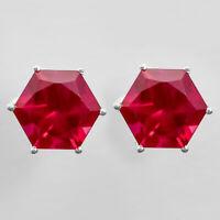 Ruby Stud 925 Sterling Silver Earrings Jewelry SDE8179