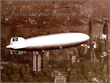 Photo: LZ129 AKA Hindenburg Flies Over NYC On Final Flight To US, May 6th, 1937