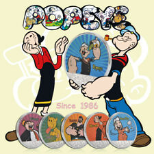 WR 3D Silver Popeye And Friends Challenge Coin Classic Cartoon Character Collect