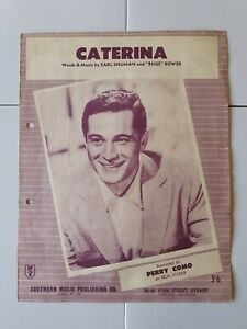 CATERINA - PERRY COMO - VINTAGE SHEET MUSIC