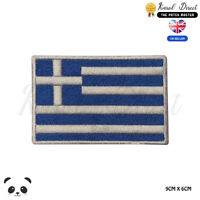 GREECE National Flag Embroidered Iron On Sew On Patch Badge For Clothes etc
