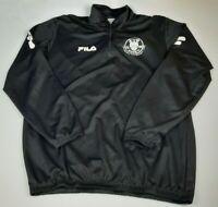 Mens Fila Black And White Quarter Zip Track Jacket Size Large L
