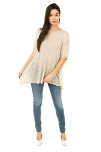 SAVE THE QUEEN Jumper Size S-M See Through Thin Knit Elbow Sleeve Made in Italy