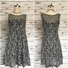 FREE PEOPLE Forever and Ever Lace Slip Dress Black Grey Size Small S