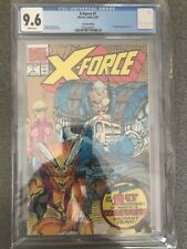 X-FORCE #1 CGC 9..6 WHITE PAGES SECOND PRINTING GOLD WRAP AROUND VARIANT