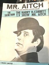 Mr. Aitch Sheet Music Theme Harry H. Corbett TV Show UK Glen Mason Keith Miller
