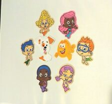 """BUBBLE GUPPIES GROUP EMBROIDERED PATCH SET OF (8) EIGHT AVERAGE SIZE 3"""" (GREAT)"""
