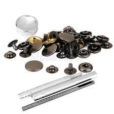 10 Sets Brass Snap Fasteners Popper Press Stud Button with Sewing Tools Kit