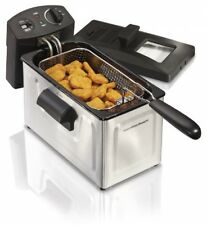 Electric Deep Fryer, 12-Cup Oil Capacity Fat Fries chicken Countertop Cooking