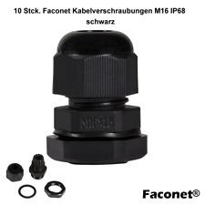 10x Kabelverschraubung Kabelsicherung M16 IP68 schwarz Klemmbereich 4-8 mm