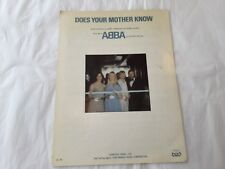 Abba sheet music Does Your Mother Know 1979