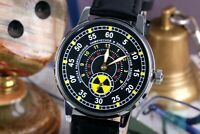 Wrist Watch Pobeda Radiation troops, Soviet watch, Rare Mens watch
