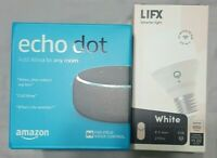 Amazon Echo Dot 3rd Generation (Charcoal) with LIFX Smart Light Bulb!!