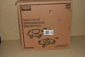 ^^ RUBBERMAID MODEL 2640 BRUTE TRASHCAN DOLLY LOT OF 2 -NEW