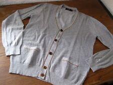 Tolle Herren Strickjacke Paul Smith Jeans Baumwolle grau S Feinstrick mit Muster
