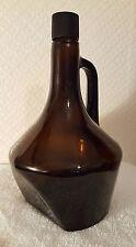 Vintage Brown Glass Half Gallon Jug / Bottle Stands Strait / Tilts