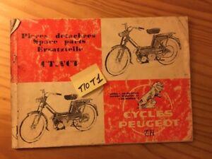 Peugeot CT Vct 1971 Catalogue Spare Part Spare Parts List Moped