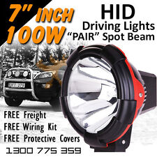 HID Xenon Driving Lights - 7 Inch 100w Spot Beam 4x4 4wd Off Road 12v 24v