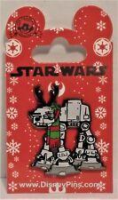 Disney Star Wars Christmas Holiday At-At Wearing Reindeer Antlers & Scarf Pin