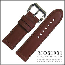 22x22 mm RIOS1931 for Panatime - Mahogany Milano Genuine Leather Watch Band For