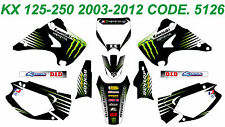 5126 KAWASAKI KX 125-250 2003-2012 03-12 DECALS STICKERS GRAPHICS KIT