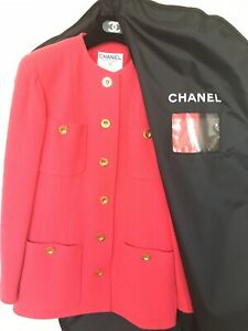 AUTHENTIC CHANEL CLASSIC BOUCLE JACKET PRISTINE CONTD SIZE 38 / US 8 With TAGS