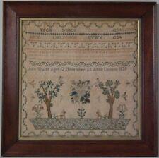 Antique Sampler, 1829, by Ann Waite