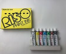 RISO Print Gocco Hi Mesh INK  7 tubes for Paper  Basic Colors