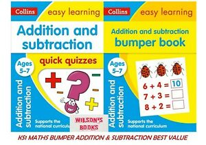 COLLINS EASY LEARNING KS1 MATHS ADDITION & SUBTRACTION AGES 5-7 **2 BOOK BUNDLE