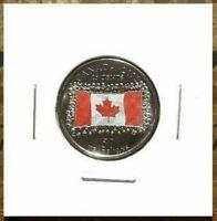 Canada 2015 Flag 50th Anniversary Colourized Quarter!!