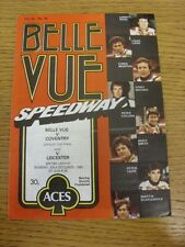 23/10/1983 Speedway Programme: League Cup Final, Belle Vue v Coventry & Leiceste