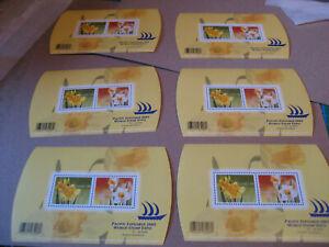 CANADA    6  SHEETS  2005 Daffodils  SOUVENIR SHEET  (6)