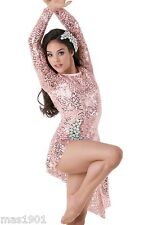 NEW FIGURE ICE SKATING BATON TWIRLING DRESS COSTUME CHILD