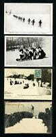 Canada 1906 Toboggan Postcard x4
