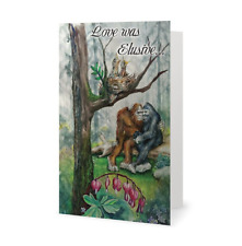 Love Was Elusive. Valentines/Anniversary Bigfoot Greeting Card