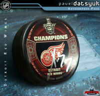 PAVEL DATSYUK Signed Detroit Red Wings 2008 Stanley Cup Champions Puck