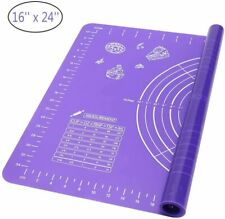 NEW Non-Stick Silicone Baking Mat Rolling Pastry Dough Fondant Pad 24'' x 16''