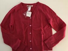 NWT 8T Cardigan Bonpoint Adorable Polka Dots Button Pink 100% Cotton
