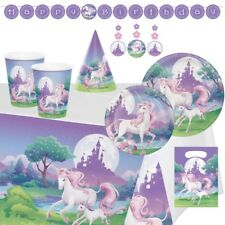 Unicorn Fantasy Party Supplies Tableware, Decorations, Balloons, Invites, Bags